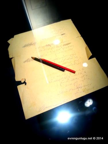 Kendi el yazısından 'Macera' Şiiri