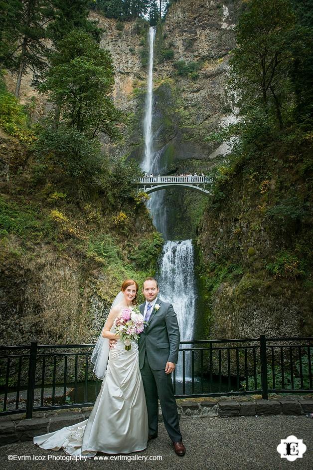 Fall Waterfall Wallpaper Multnomah Falls Lodge Wedding