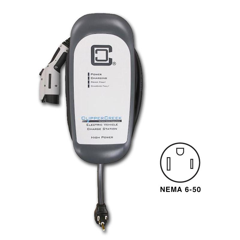 Clipper Creek HCS-40P High Power 40 Amp EVSE - NEMA 6-50 Plug