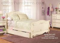 Vintage White Sleigh Bed Children's Bedroom Set
