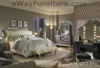 Creamy Pearl Tufted White Leather and Crystal Bed