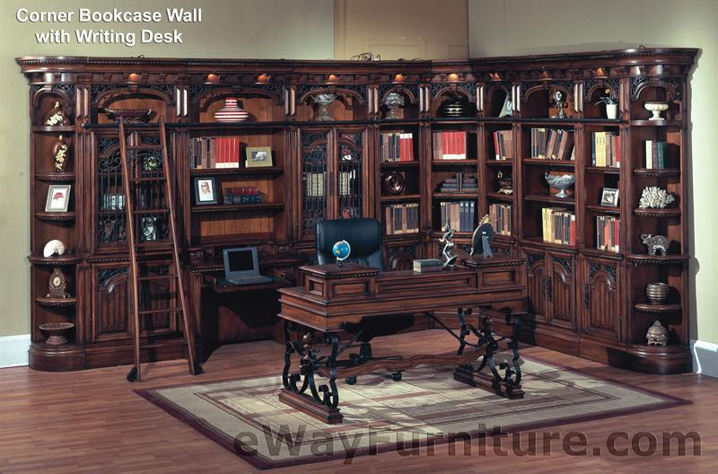 Parker House Barcelona Library Corner Bookcase Wall With