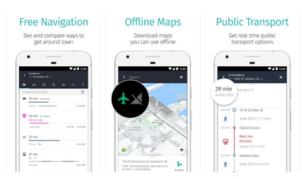 offline navigation app