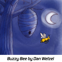 Lonely Bee by Dan Wetzel - Cartoon.