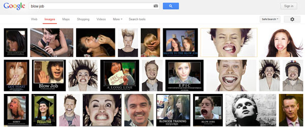 Google image search  for blow job