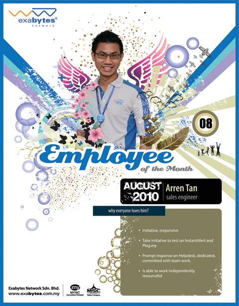 August 2010 Employee of The Month! - Exabytes Web Hosting Blog