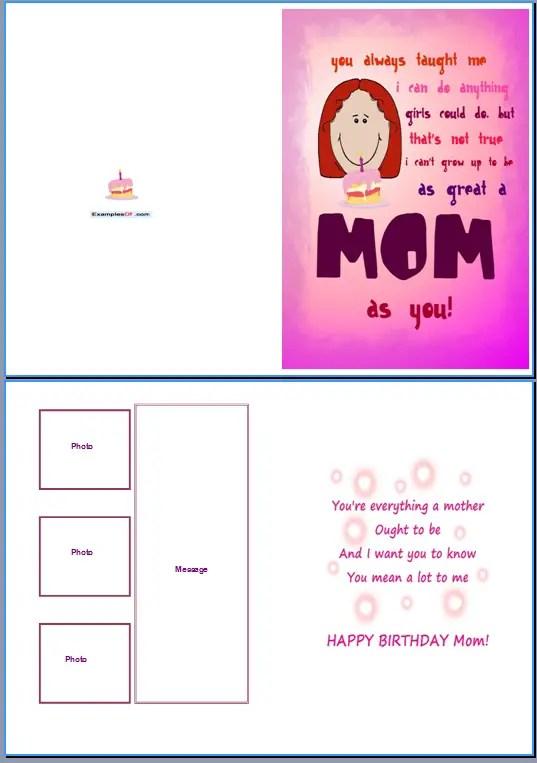 Birthday Card Word Template \u2013 gangcraftnet - template for a birthday card