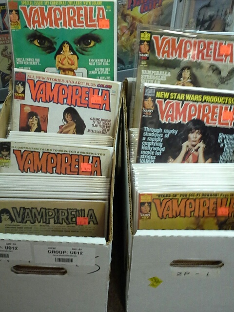 Two boxes of Vampirella mags!
