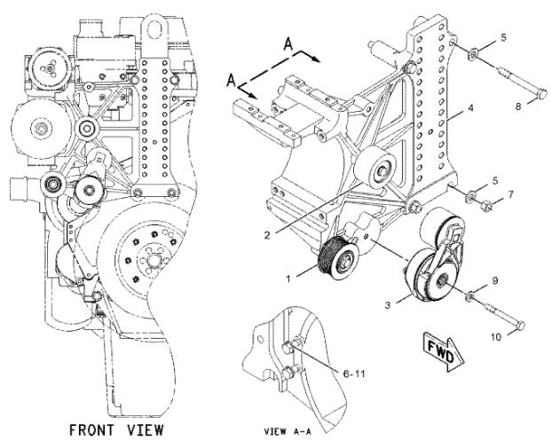 caterpillar c13 engine parts diagram