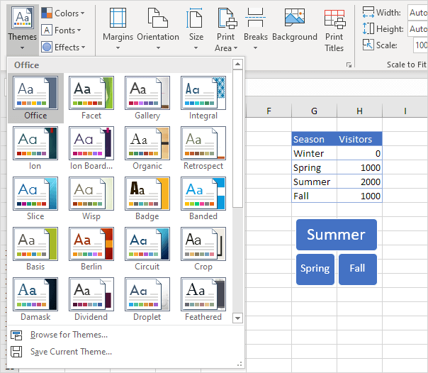 ion theme excel 2013
