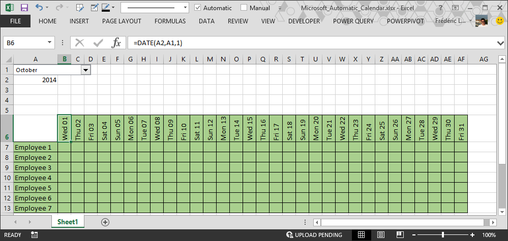 Add Calendar To Excel 2013 Excel Vba Order And Inventory Management Excel 2013 How To Make Automatic Calendar In Excel