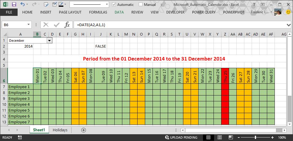 Create Holiday Calendar In Excel Wincalendar Calendar Maker Word Excel Pdf Calendar How To Make Automatic Calendar In Excel
