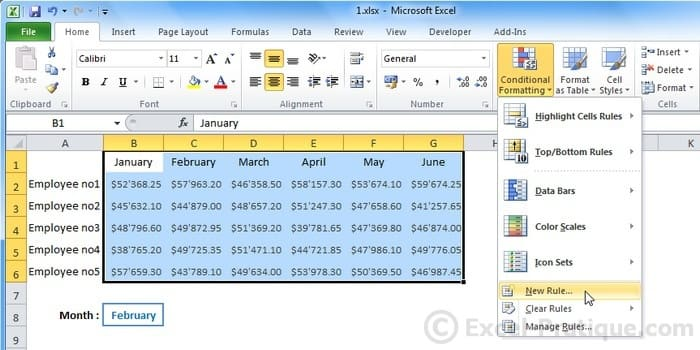 Excel Course Custom Conditional Formatting