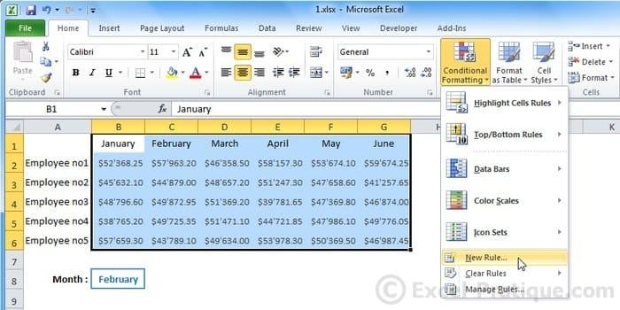 Excel Course Custom Conditional Formatting
