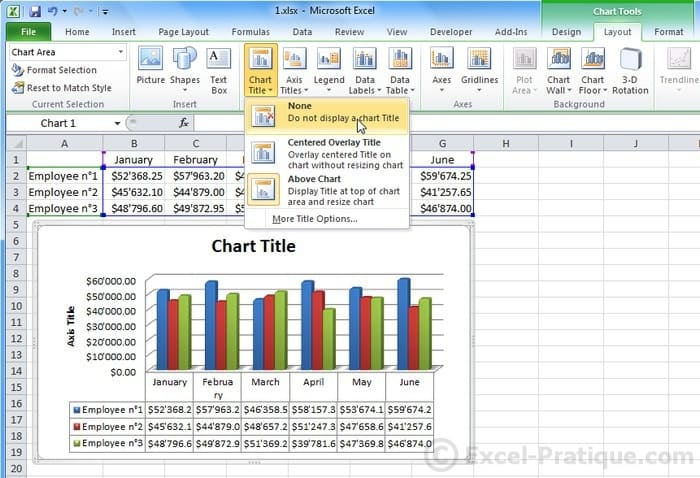 Excel Course Inserting Graphs