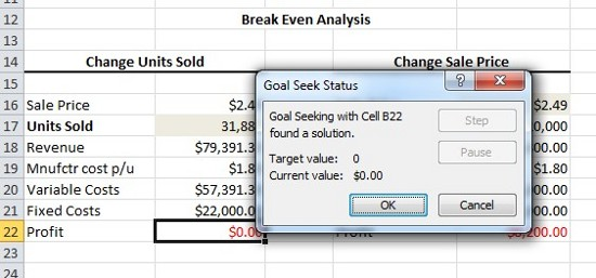 Expert Excel Help - Creating a Break-Even Analysis with Goal Seek