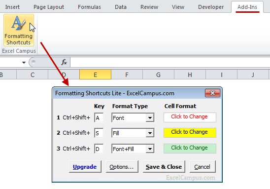 5 Excel Keyboard Shortcuts For Font Or Fill Colors Excel