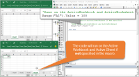 Activeworkbook Active Worksheet