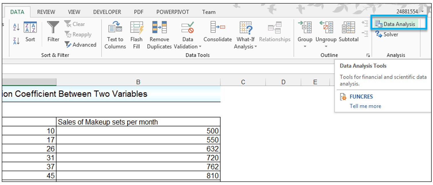 Correlation Between 2 Data Sets In Excel 2 How To Calculate