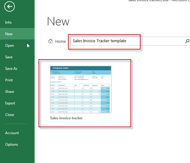 Sales Invoice Tracker Template In MS Excel - Free Excel Tutorial