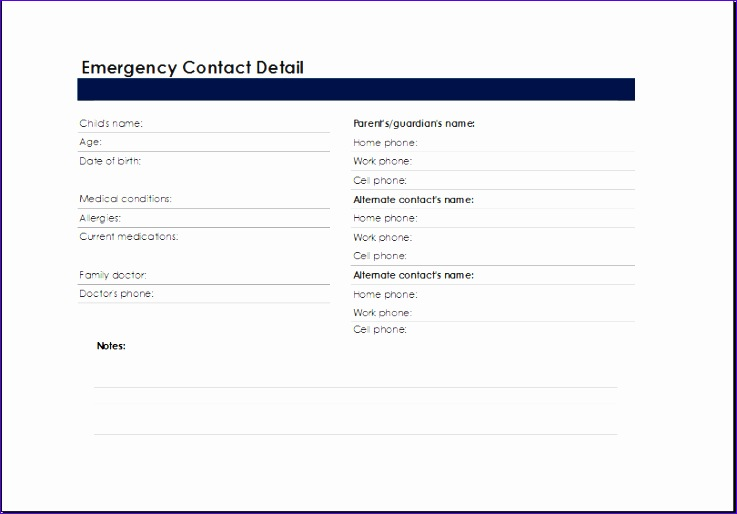 Allergy Log Template Scoci Best Of Printable Excel Emergency Contact