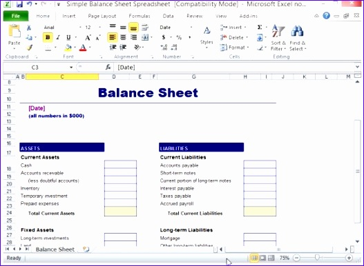 8 Balance Sheet Template Excel Free Download - ExcelTemplates - balance sheet template download