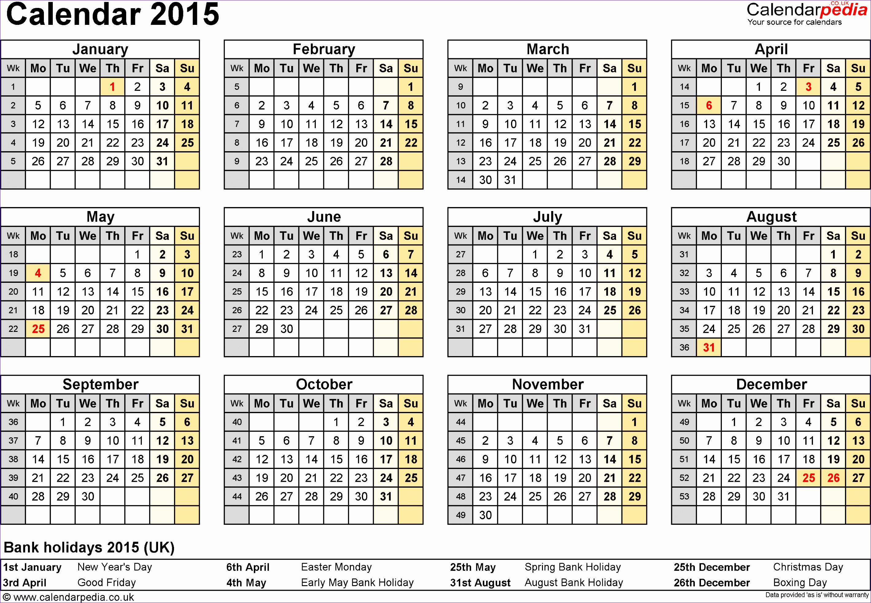 Quarter Calendar Template - Costumepartyrun