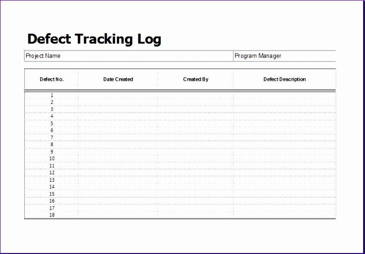 Bug Report Template Excel - Costumepartyrun