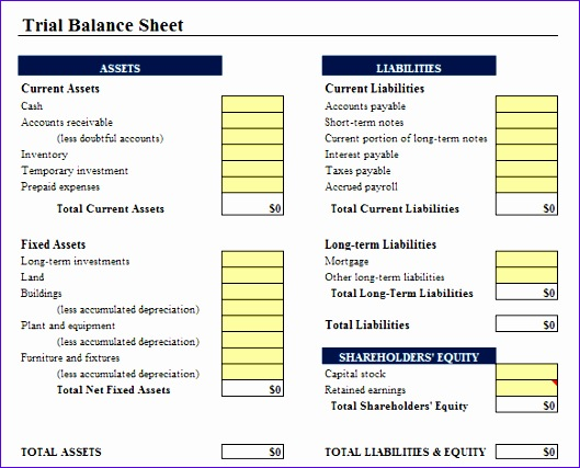 Classified Balance Sheet Template Choice Image - Template Design Ideas - free printable balance sheet template