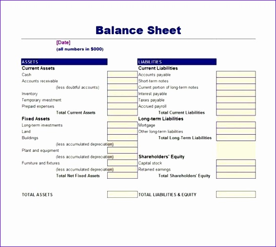Classified Balance Sheet Template Excel N3ktw Beautiful Balance - Balance Sheet Classified Format