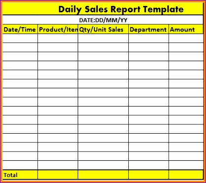 Daily Sales Report Template Excel Free Epvkv Best Of 7 Daily Report