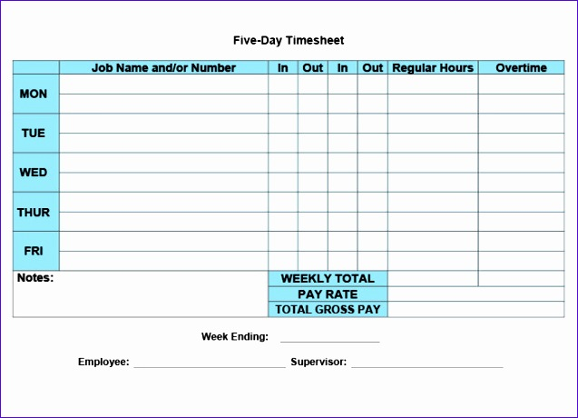 12 Daily Timesheet Template Excel 2010 - ExcelTemplates - ExcelTemplates