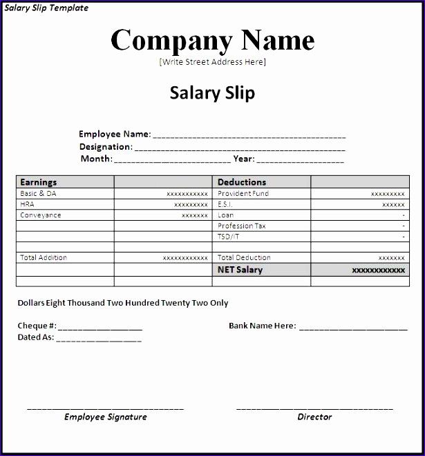 Employee Payslip Template Excel Elkcx Best Of Excel Template - basic payslip template excel