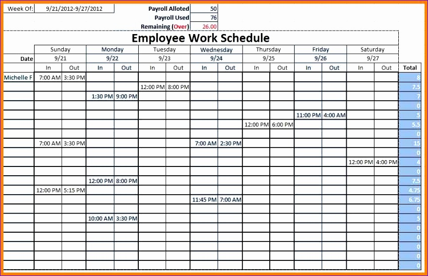 Employee Work Schedule Template Excel Vysfg Lovely Make Schedules