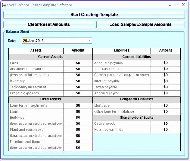 Excel Balance Sheet Template Free Download Vssns Fresh Balance Sheet