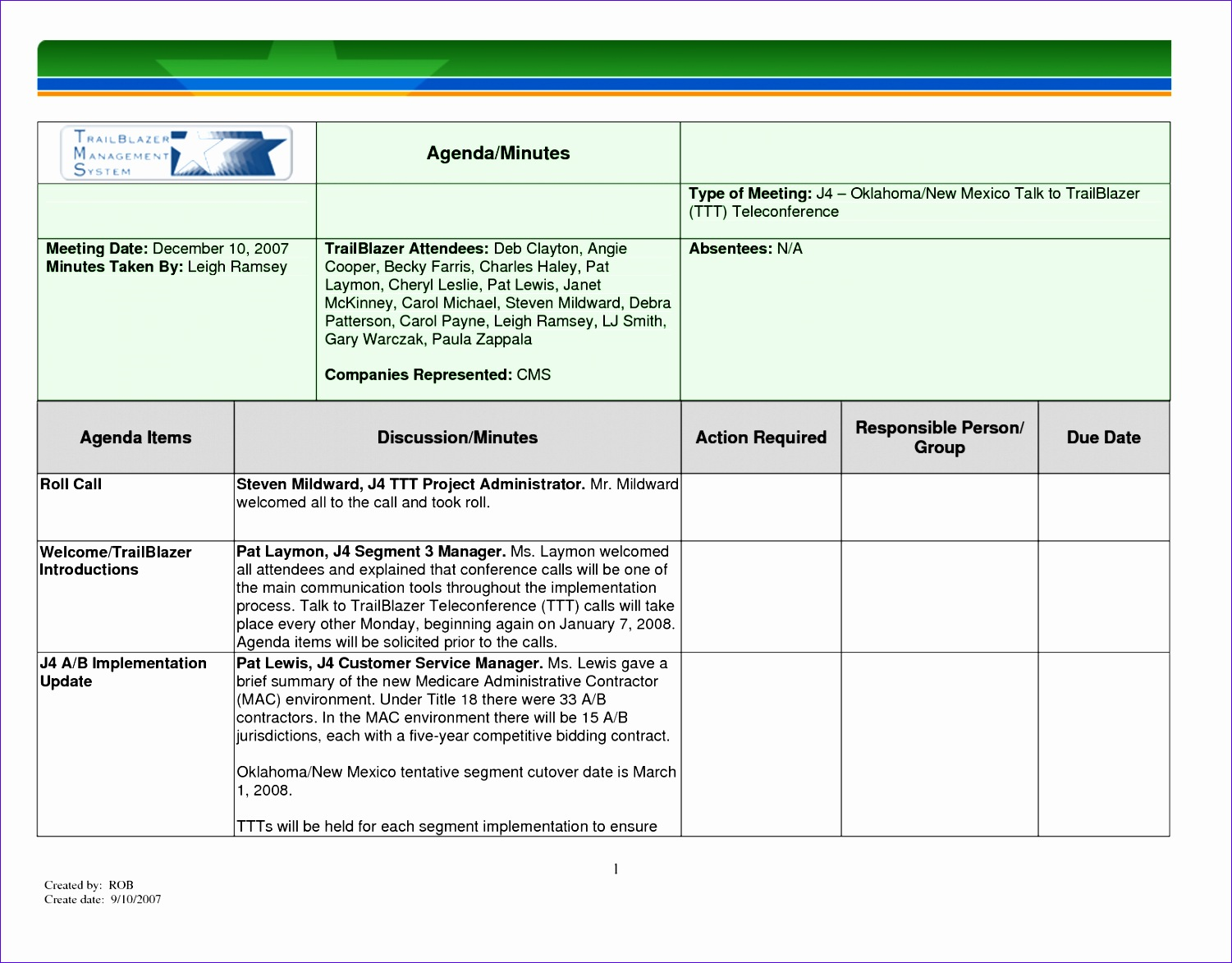 8 meeting minutes template excel