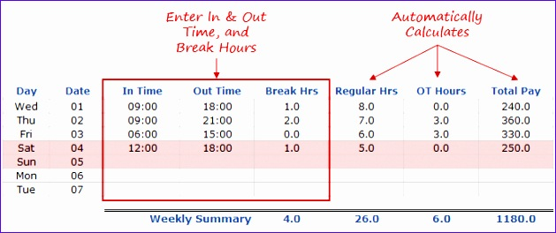 Excel Timesheet Template Calculate Hours Rxnhe Inspirational Excel