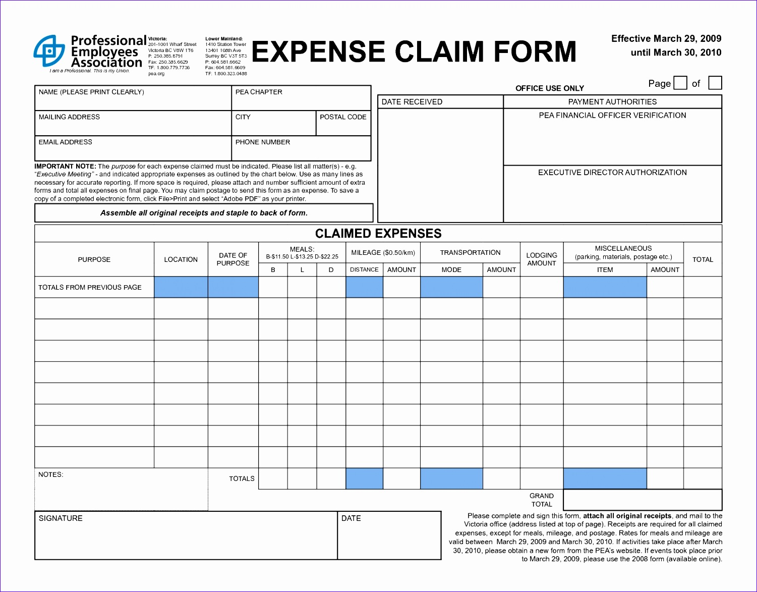 11 Expense Claim Form Template Excel Exceltemplates
