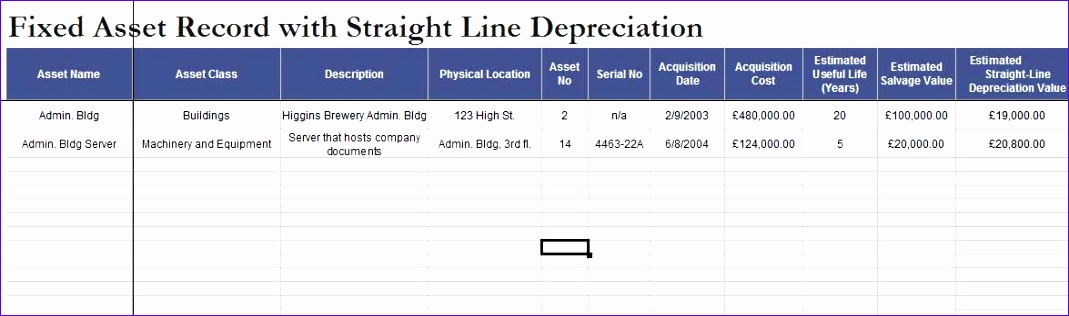 10 Fixed asset Register Excel Template - ExcelTemplates - ExcelTemplates
