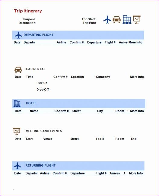 example of flight itinerary - Towerssconstruction