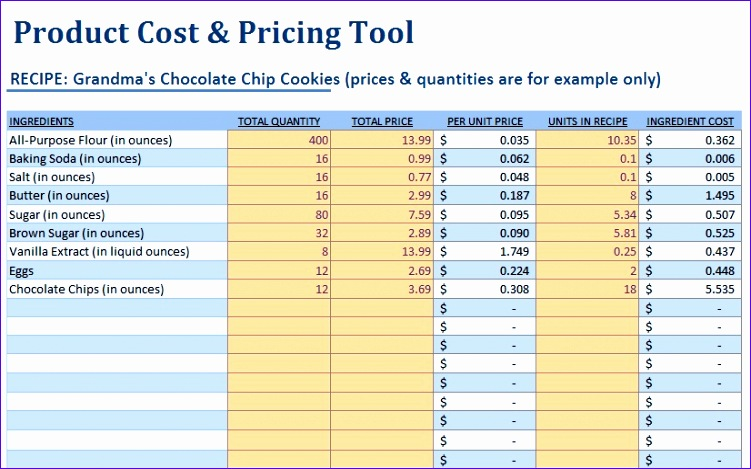 Food Cost Excel Template Apvzm Best Of Small Food Business