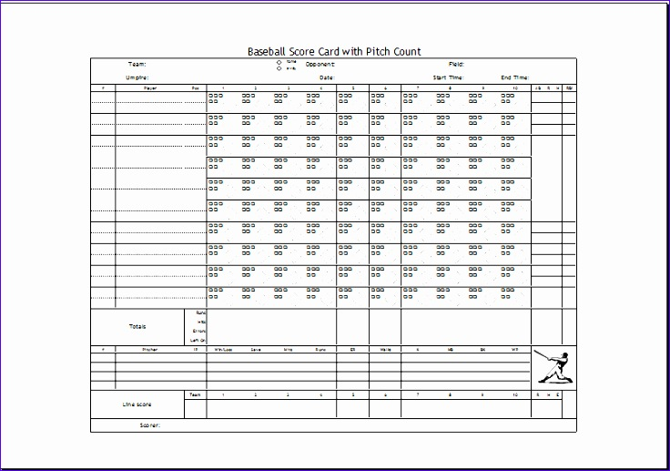 excel baseball scorecard