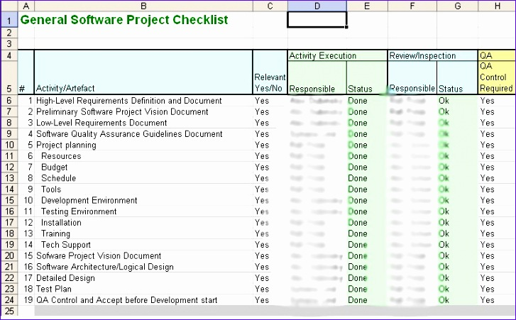 10 iso 9001 Checklist Excel Template - ExcelTemplates - ExcelTemplates - Excel Check List