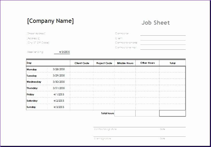 Job Sheets Templates Excel Ieeil New Sample Job Sheet Template for - sample job sheet template