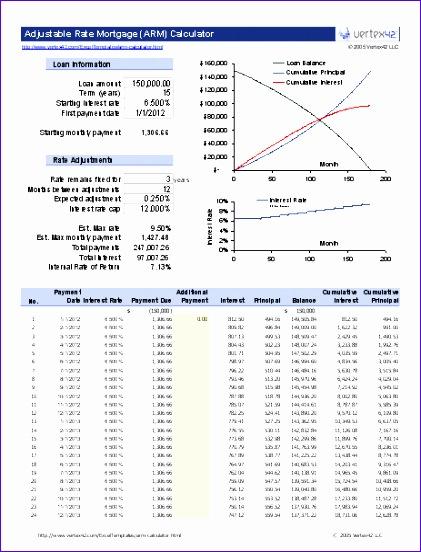 Excel Loan Calculator Template - mandegarinfo - mortgage calculator template