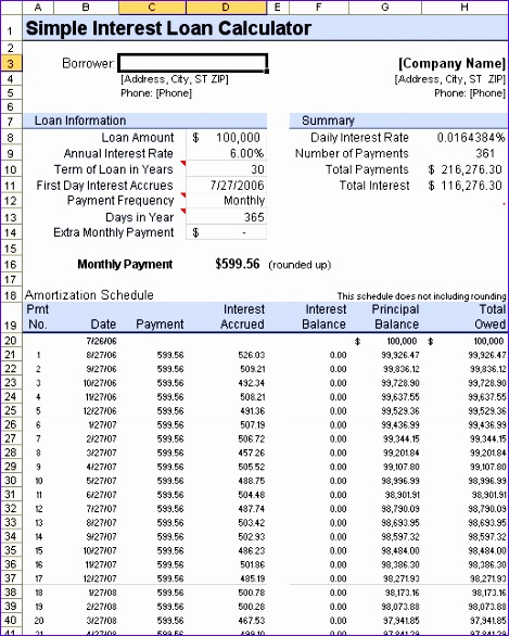 ... Loan Repayment Schedule Excel Template Nhjis Lovely Loan   Amortization  Table In Excel ...
