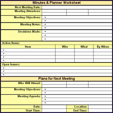 6 Meeting Notes Template Excel - ExcelTemplates - ExcelTemplates - sample meeting summary template