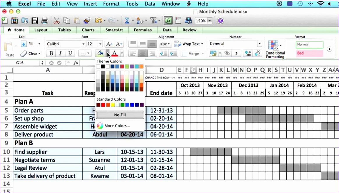 6 Monthly Timetable Template Excel - ExcelTemplates - ExcelTemplates - time table excel