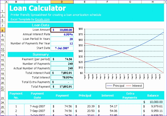 7 Mortgage Payment Calculator Excel Template - ExcelTemplates