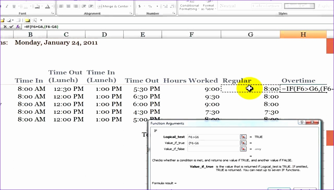 Overtime Calculator Excel Template Rcajd Beautiful How to Calculate